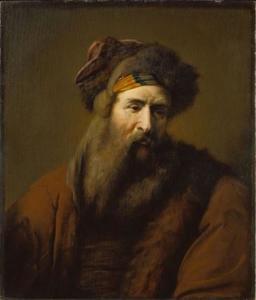 Kop van een man met baard