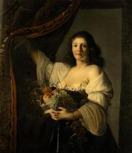 Vrouw met een fruitschaal