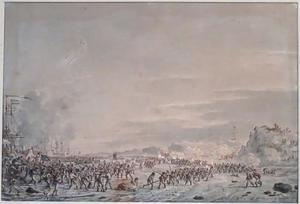 Landing van de Nederlands-Engelse troepen bij IJmuiden, 1800
