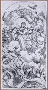 Maria met Kind als voorspreekster van de zielen in het vagevuur