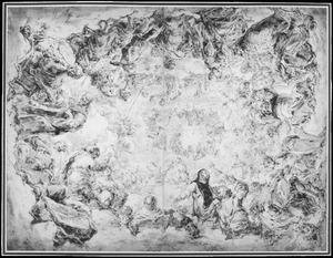 De vier Kerkvaders en andere Heiligen