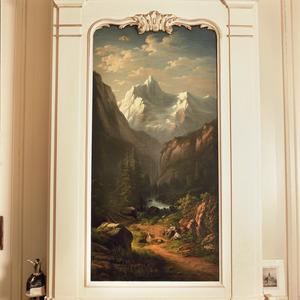 Zwitsers berglandschap met pastorale scène