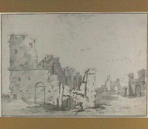 Spangen, ruïne van het kasteel