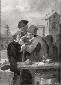 Een tandarts aan het werk