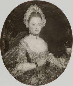 Portret van Maaijke de Sutter (1740-1824), echtgenote van Dirk de Lange (1731-1803)