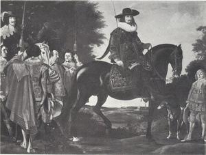 Koning Christian IV (1577-1648) en de prins te paard