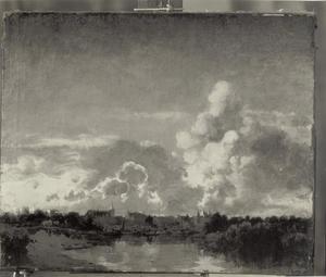 Wolkengevaarte boven Hattem in de schemer