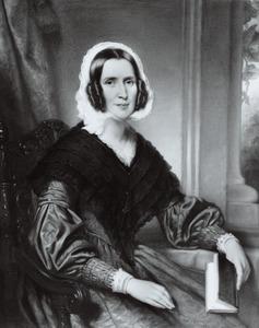 Portret van waarschijnlijk Johanna Elizabeth Maria van Rees (1824-1904)