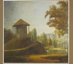 Park met een prieel op een heuvel