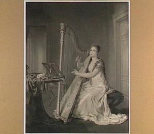 Harpspelende vrouw
