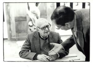Portret van Brassaï en Carel Blazer