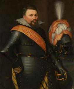Portret van een officier, mogelijk William Brog (ca. 1570-1636), kolonel van het Sshots regiment in Statendienst