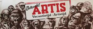 Tram-Affiche: Bezoekt Artis, Vacantietijd - Artistijd