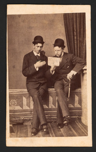 Portret van Jhr. Hugo Gevers (1858-1921) en Ernest van Stirum (?-?)