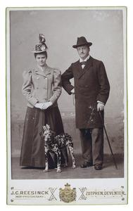 Portret van Johannes Dudok van Heel (1867-1930) en Stephania Gerrieta Johanna van Andel (1873-1949)