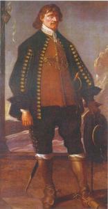 Portret van Corfitz Ulfeldt (1606-1664), echtgenoot van Leonora Christina, dochter van Christiaan IV en Kirsten Munk