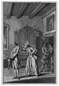 Illustratie bij 'De losbandige zoon' uit de Fabelen en vertelsels van F.C. Gellert