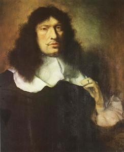 Portret van een man met zwart haar, waarschijnlijk Alphons Zeffiri