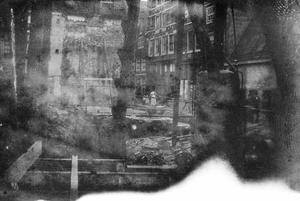 Bouwput aan de Sint Nicolaasstraat te Amsterdam