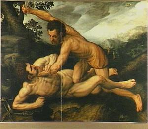 Kain vermoordt Abel met een kakebeen (Genesis 4:8)