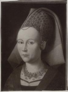 Portret van een vrouw, mogelijk Elisabeth Braderyck