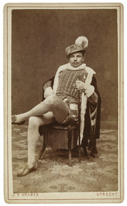 Portret van Lodewijk Henrick Johan Mari van Asch van Wijck (1858-1934) als Sibert van Berlicum
