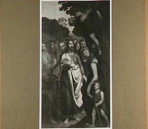 Christus en de tollenaar Zacheus (Het meerseniersaltaar)