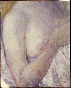 Vrouw met ontblote borst, detailstudie