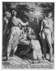 Diana's ontdekking van de zwangerschap van Callisto (Ovidius, Metamorfoses 2:442-453)