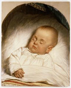 Doodsbedportret van een onbekend kindje