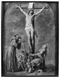 De gekruisigde Christus met de HH. Franciscus van Assisi en Maria Magdalena