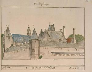 De achterzijde van kasteel Lockhorst (of Oud-Teylingen) bij Warmond