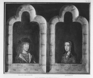 Tweeluik met de portretten van Philips de Schone en zijn zuster Margaretha van Oostenrijk als kinderen