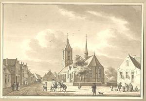 Scherpenzeel, gezicht in het dorp met de kerk