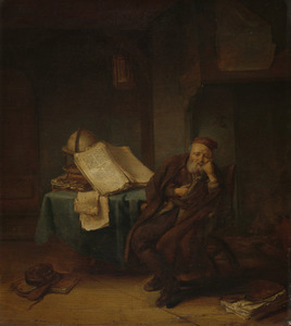 Filosoof in zijn studeervertrek
