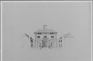 Voorzijde van het nieuwe huis Gunterstein