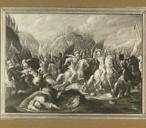 De dood van koning Saul en zijn wapendrager bij de slag bij Gilboa (1 Samuel 31:4-6)