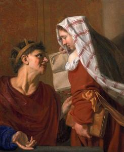 Koning Tarquinius en de Sibille van Cumae