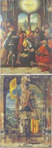 De nederdaling van de H. Geest (voorzijde); de H. Libertus (achterzijde)