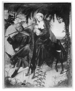 Altaarstuk met de Zeven Smarten van Maria: Vlucht naar Egypte (links, midden)