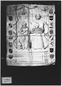 Dubbelportret van Philibert van Tuyll van Serooskerken (1601-1661) en Vincentia Magdalena van Swieten (....-1629)