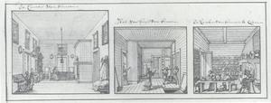 Drie kamers in het huis van Nicolaes Bidloo lang de rivier de Jaoeza bij Moskou