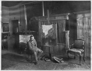 Floris Arntzenius in zijn atelier