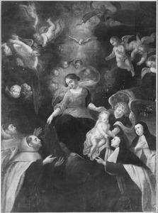 Verschijning van de H, Maagd aan Simon Stock 1739