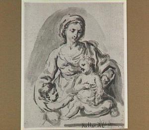 Maria met kind en het kind Johannes de Doper (?)