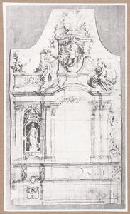 Ontwerp voor een altaar met de heilige Catharina