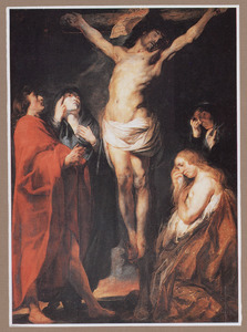 De gekruisigde Christus met bijstanders