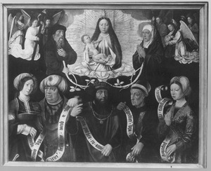 Maria met kind, samen met Joachim en Anna, profeten en sibyllen
