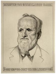 Portret van Pieter Wilhelm Adriaan Cort van der Linden (1846-1935)