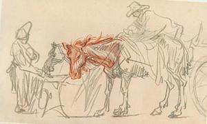 Rustend span paarden